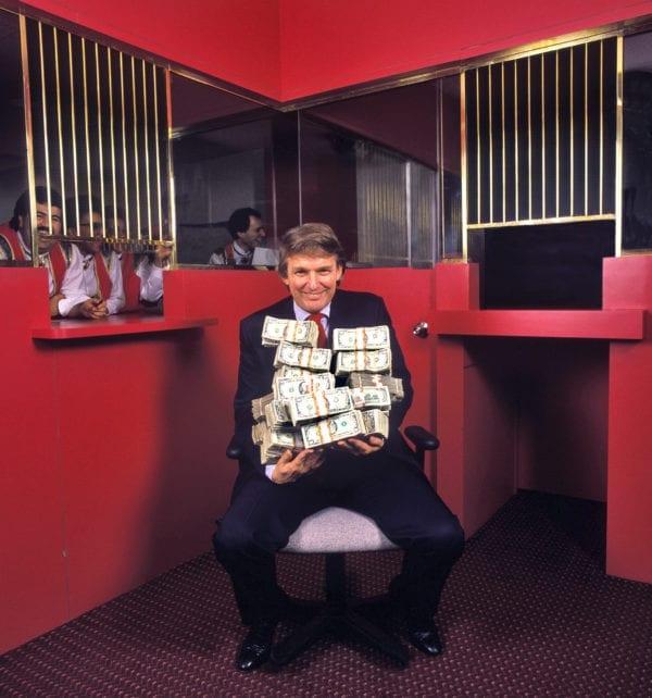 Harry Benson, Donald Trump holding a Million Dollars