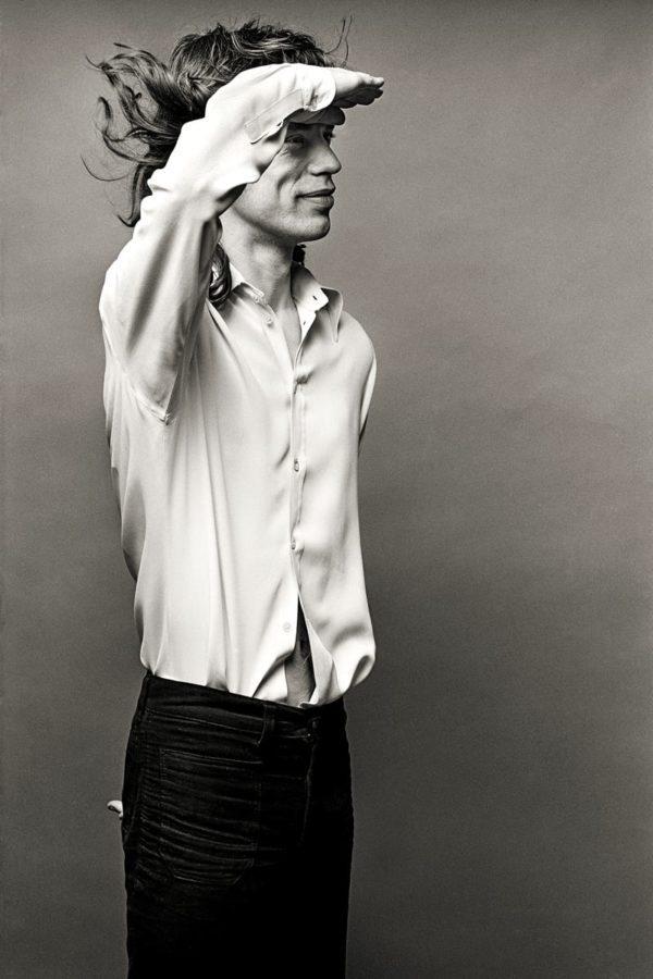 Norman Seeff, Mick Saluting, Mick Jagger, Los Angeles