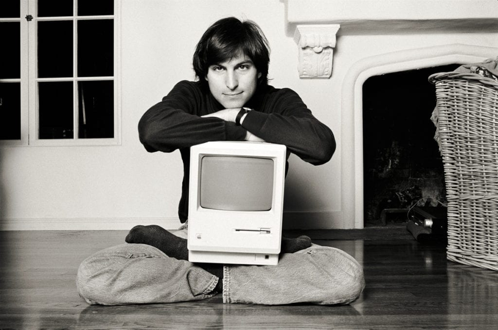 Norman Seeff, Mac on Lap Classic, Steve Jobs, Woodside, CA