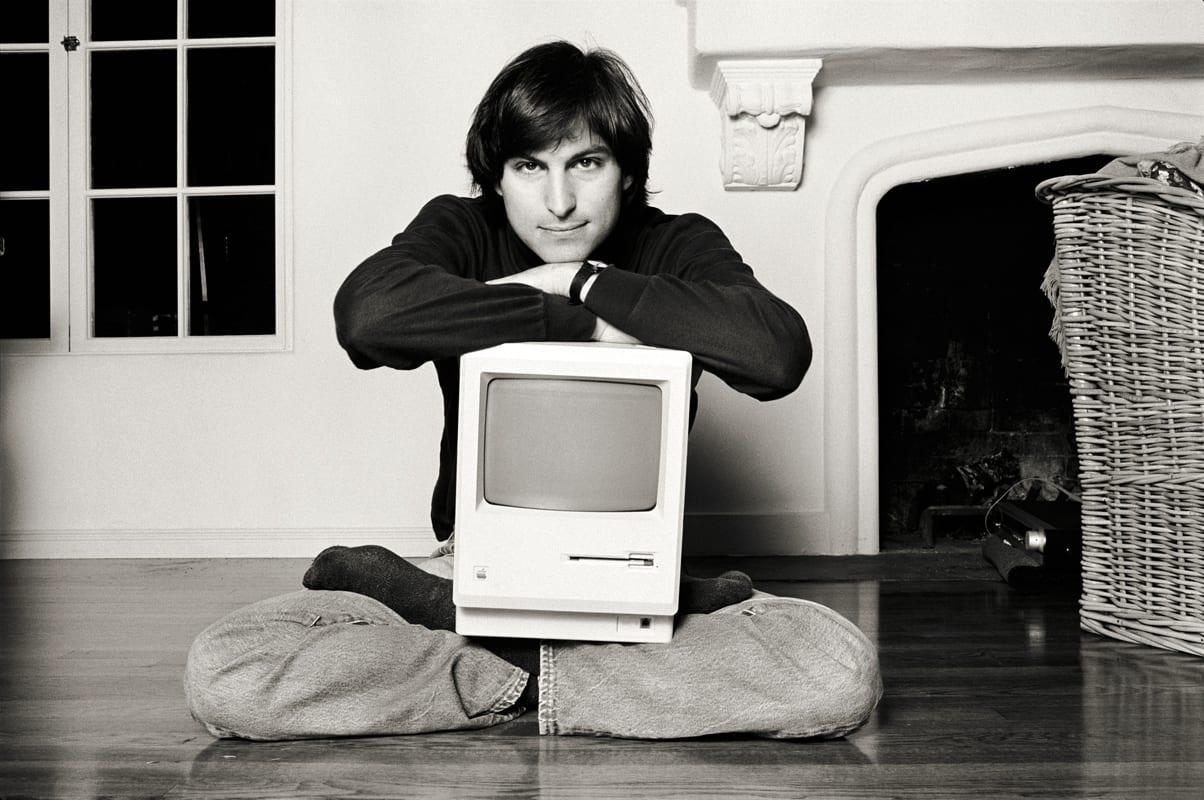 Norman Seeff, Mac on Lap Classic, Steve Jobs, Woodside, CA
