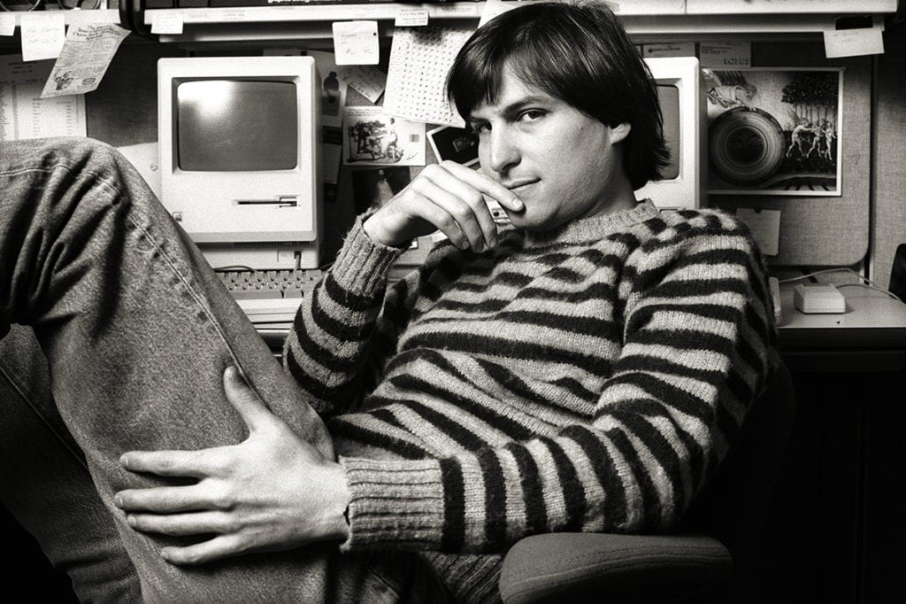 Norman Seeff, Striped Sweater Classic, Steve Jobs, Cupertino, CA