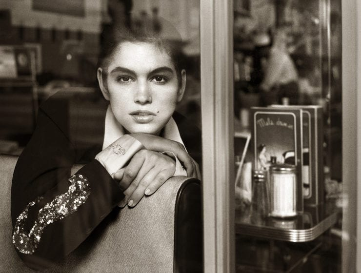 Albert Watson, Cindy Crawford, at Mel's Diner, San Francisco, 1989