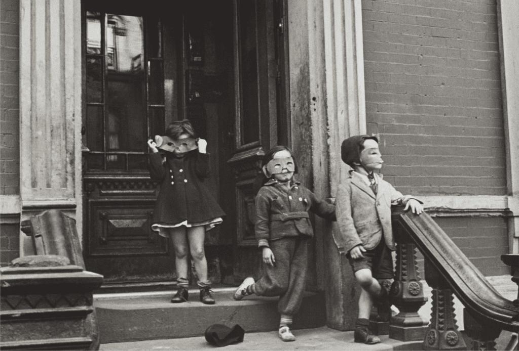 Helen Levitt, N.Y.C. Masked Children