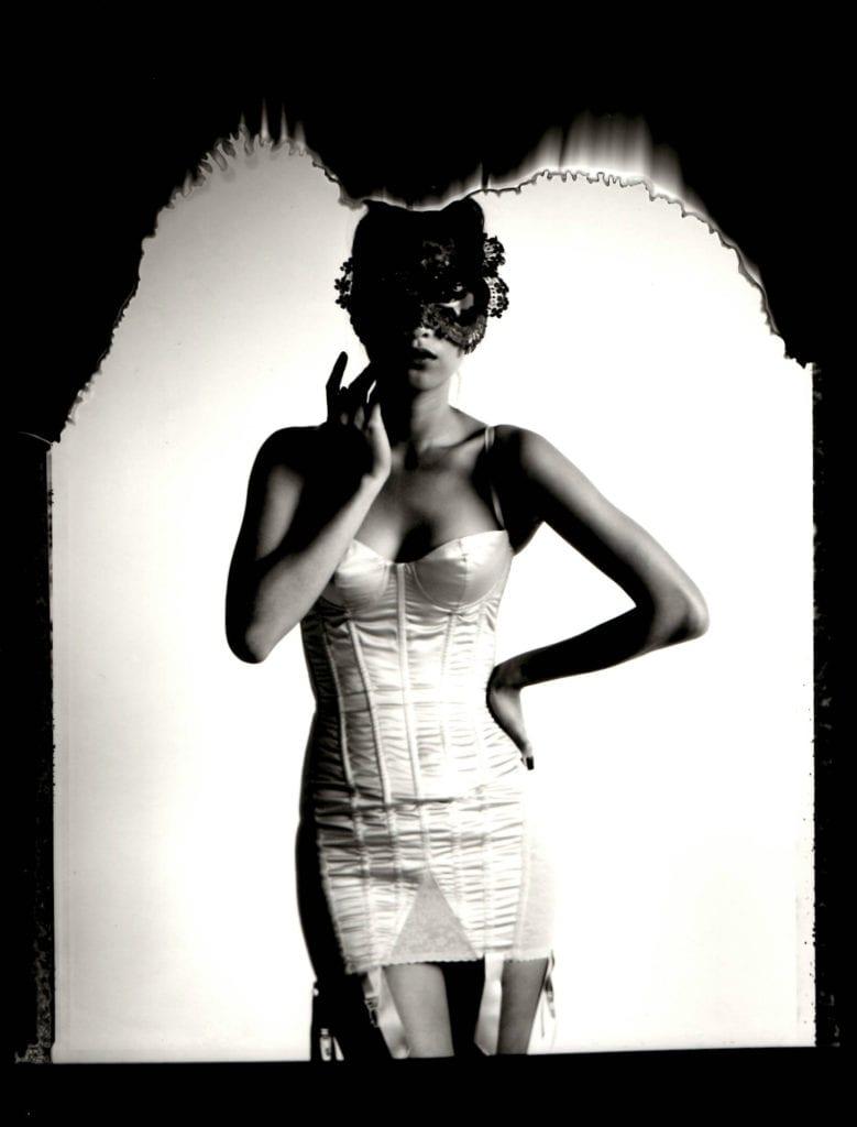 Cathleen Naundorf, La Nuit Masque I, Treacy Hat, Cadolle Underwear