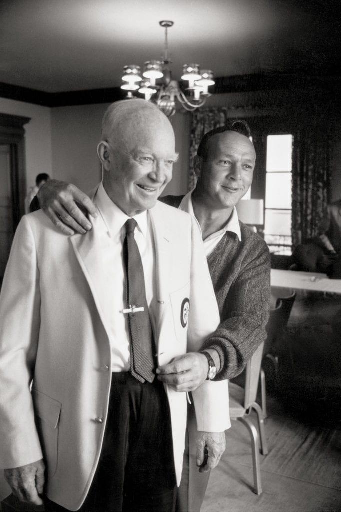 Walter Iooss, Dwight Eisenhower & Arnold Palmer, 1965