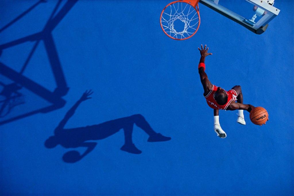 Walter Iooss, The Blue Dunk, Michael Jordan, 1987