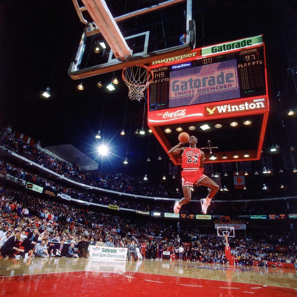 Michael Jordan, Slam Dunk Contest, Chicago, IL, 1995