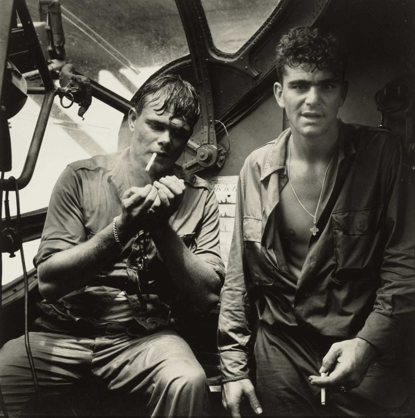 Horace Bristol, Rescued Airman Smoking aboard PBY, Rabaul