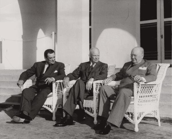 Keystone Press Agency, The Big 3, Joseph Laniel, President Eisenhower, Churchill