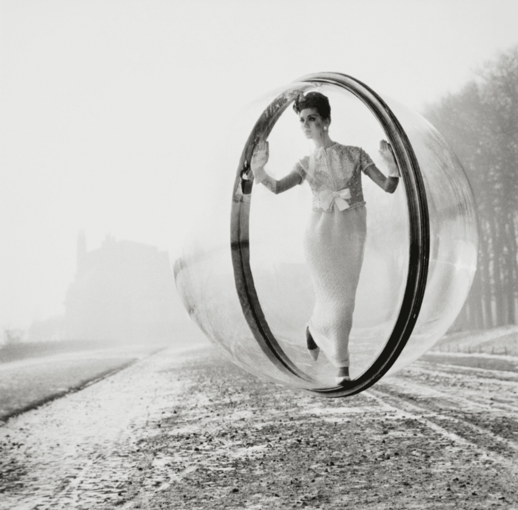 Melvin Sokolsky, After Delvaux, Paris Collections, Harper's Bazaar