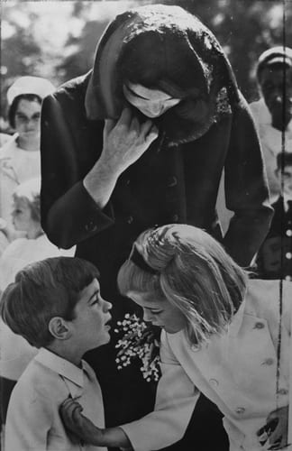Stan Stearns, Jacqueline Kennedy and her two children at Washington's St. Matthew's Cathedral during the funeral of President Kennedy
