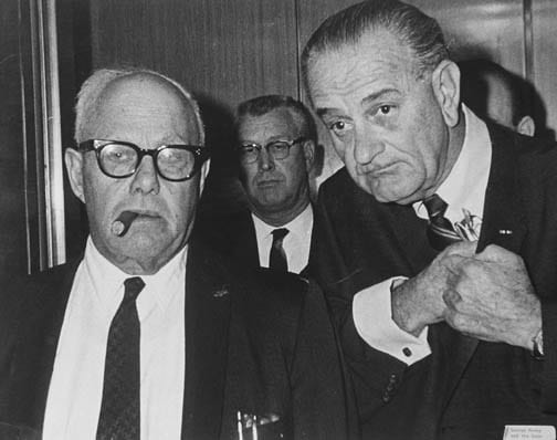 Stan Stearns, President Johnson with AFL-CIO founder George Meany