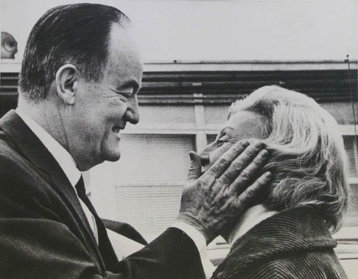 Stan Stearns, Vice President Hubert Humphrey with wife Muriel