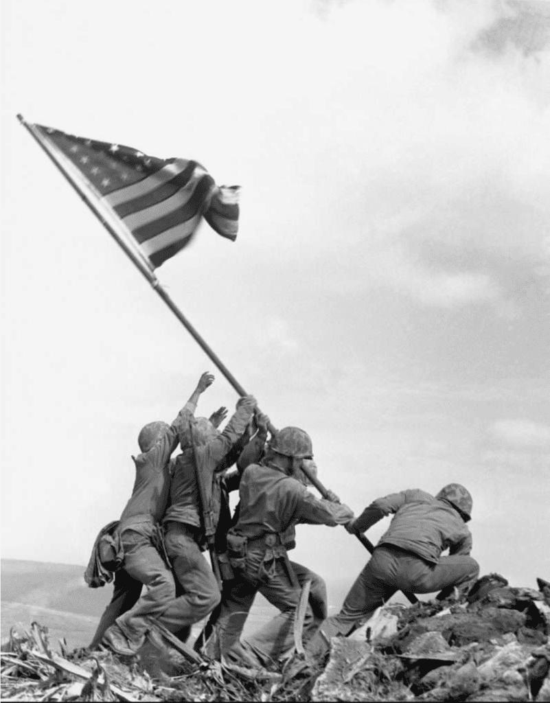 Joe Rosenthal, Raising the Flag on Mt. Suribachi, Iwo Jima