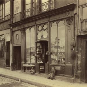 Eugène Atget, 3 Quai de Bourbon (Boutique Louis XVI)