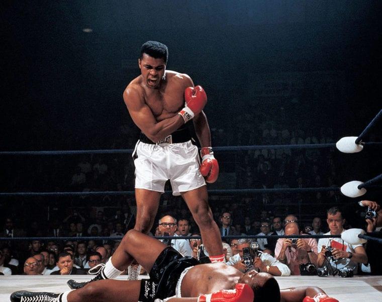 Neil Leifer Ali Liston Muhammad Ali Ko S Sonny Liston Lewiston Me
