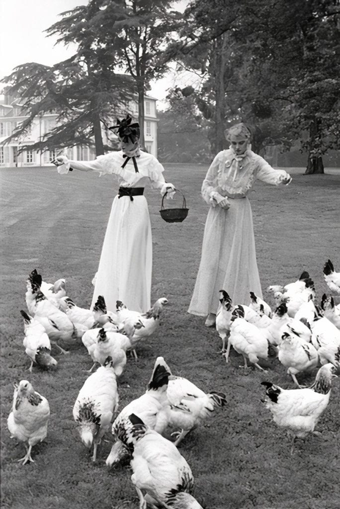 Harry Benson, Models with Chickens