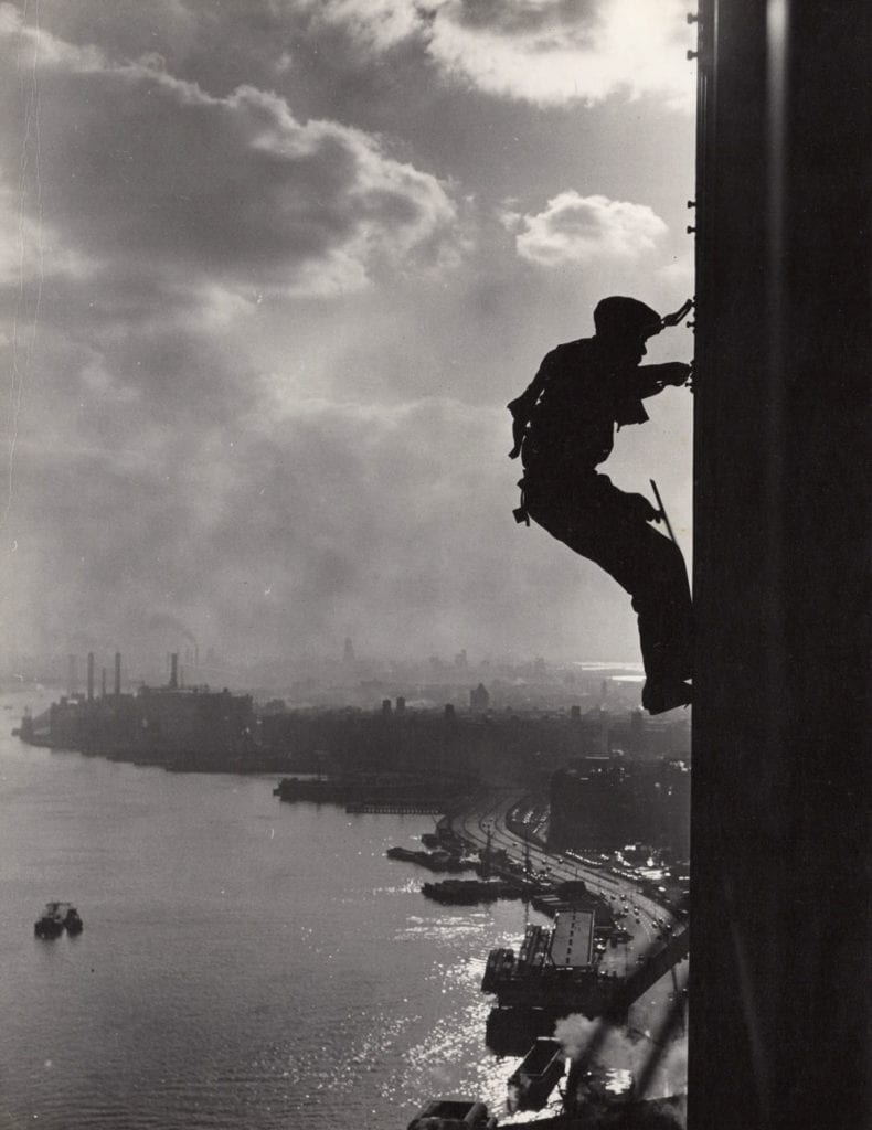 "F.B. Grunzweig, ""Between Heaven and Earth,"" United Nations Window Cleaner"