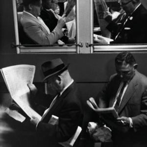 Louis Stettner, Commuters, Evening Train