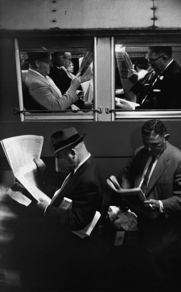 Louis Stettner, Commuters, Evening Train