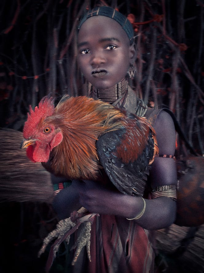 William Ropp, Young girl and her favorite Rooster, Ethiopia