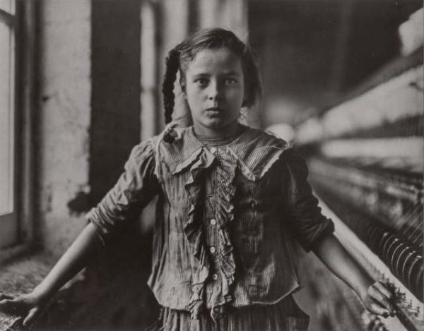Lewis Hine, Ten Year Old Spinner, North Carolina Cotton Mill, 1908