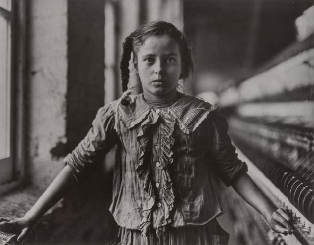Lewis Hine, Ten Year Old Spinner, North Carolina Cotton Mill, 1908