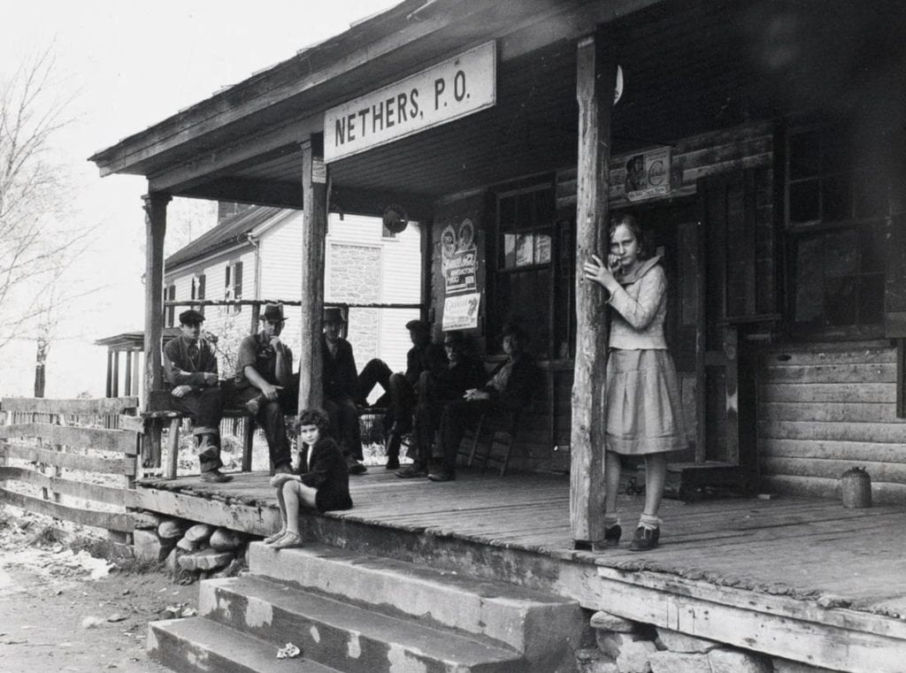 Arthur Rothstein, Porch Gathering, Shenandoah National Park, VA