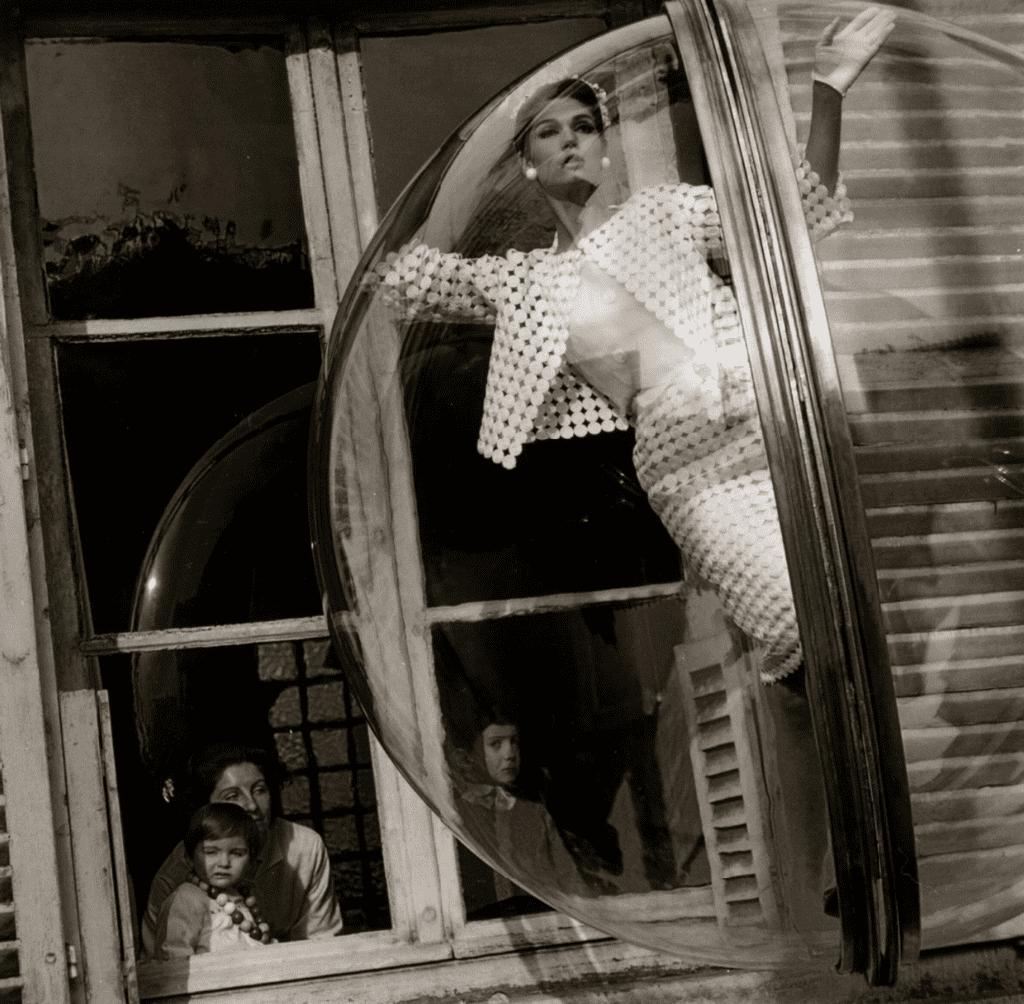 Melvin Sokolsky, Faces in Window, Paris, Harper's Bazaar