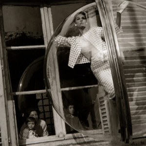 Melvin Sokolsky, Faces in Window, Paris, Harper's Bazaar