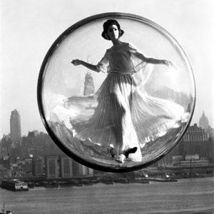 Melvin Sokolsky, Over New York, for Harper's Bazaar