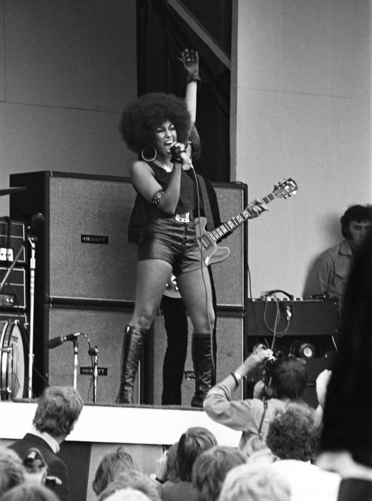 John Loring, Marsha Hunt, Isle of Wight Music Festival, August 1969