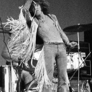 John Loring, Roger Daltrey of The Who singing Tommy, Isle of Wight Music Festival, August 1969