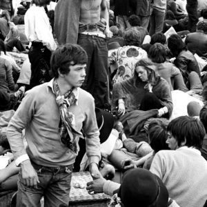 John Loring, Details of crowd, Isle of Wight Music Festival, August 1969