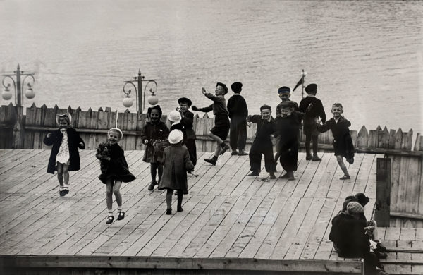 Howard Sochurek, Russian Children Dancing at Water's Edge