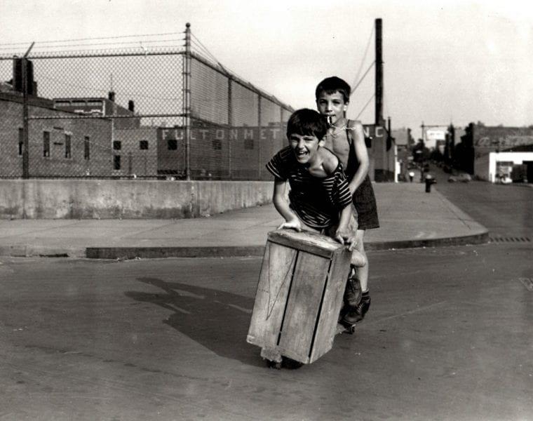 Arthur Leipzig, Boys on Wooden Scooter