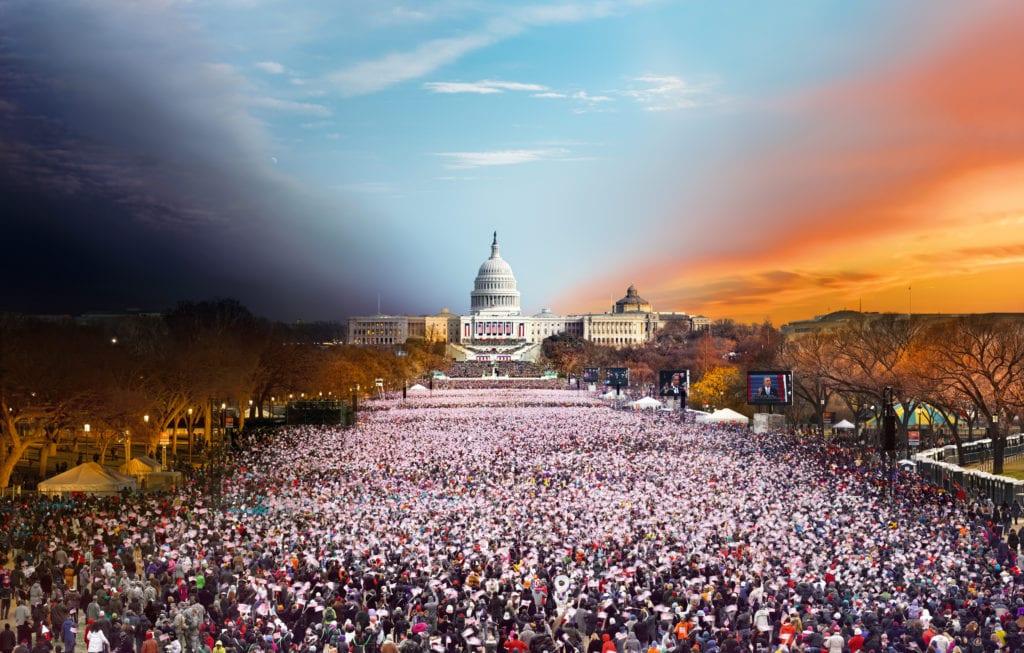 Stephen Wilkes, Obama Biden Presidential Inauguration Washington DC, Day to Night