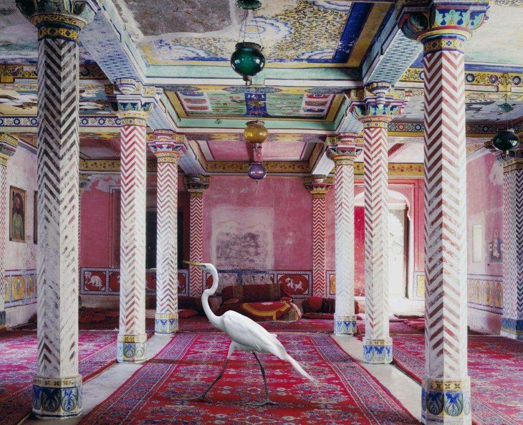 Karen Knorr, The Flight to Freedom, Durbar Hall, Juna Mahal, Dungarpur