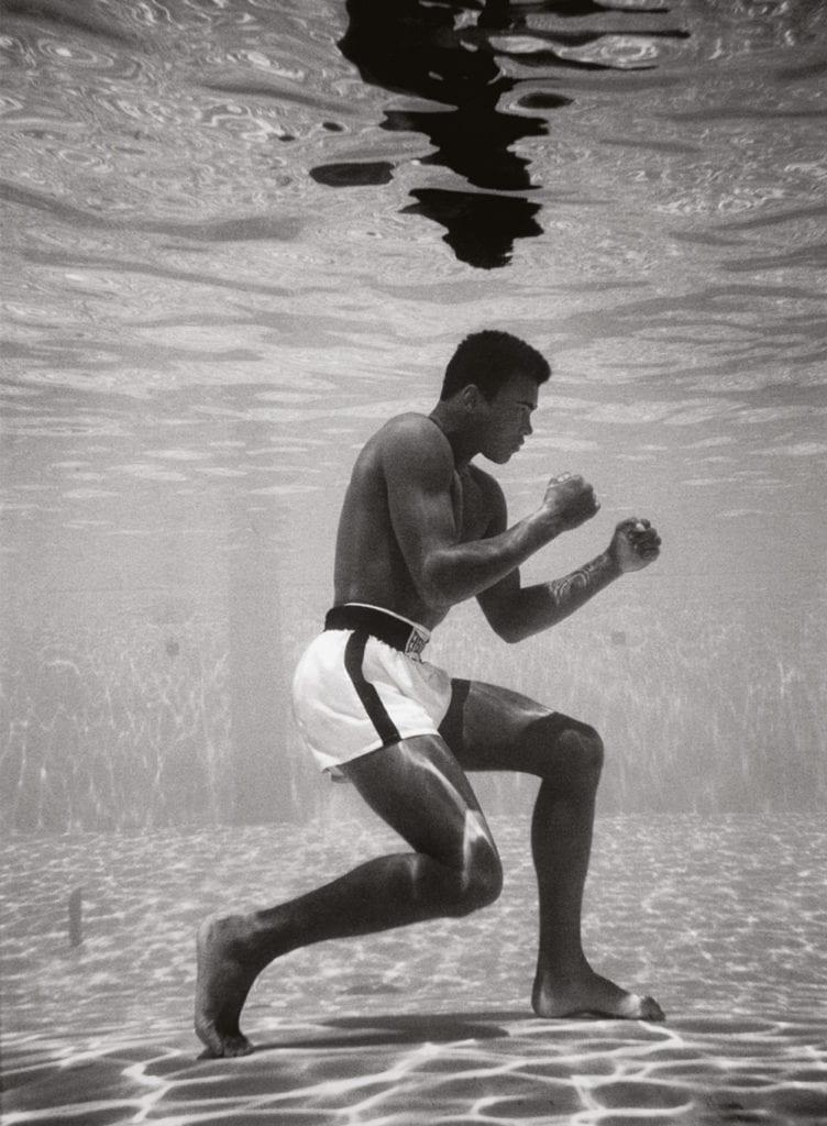 Flip Schulke, Muhammad Ali Boxing Underwater, 1961