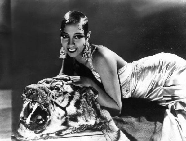 Keystone Press Agency, Josephine Baker on Tiger, Early Silver Gelatin Photograph