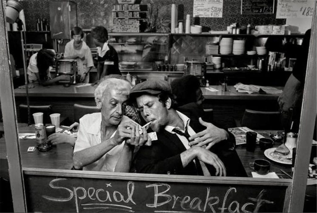 "Norman Seeff, Tom Waits, Los Angeles, ""Night Hawks"", 1975"
