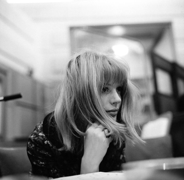 Gered Mankowitz, Marianne Faithfull at Decca Studios