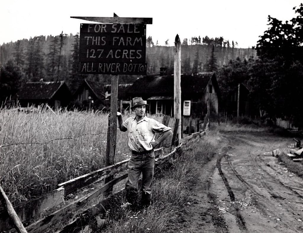 Arthur Rothstein, Owner of a Stump Ranch in the Cascades, near the McKenzie River, Oregon, Silver Gelatin Photograph