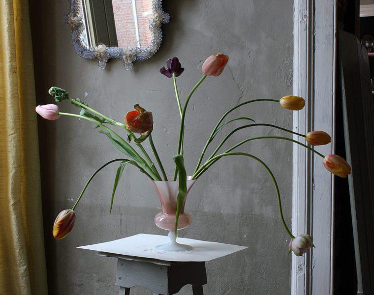 Michael James O'Brien, Opalina Still Life with Tulips, Antwerp