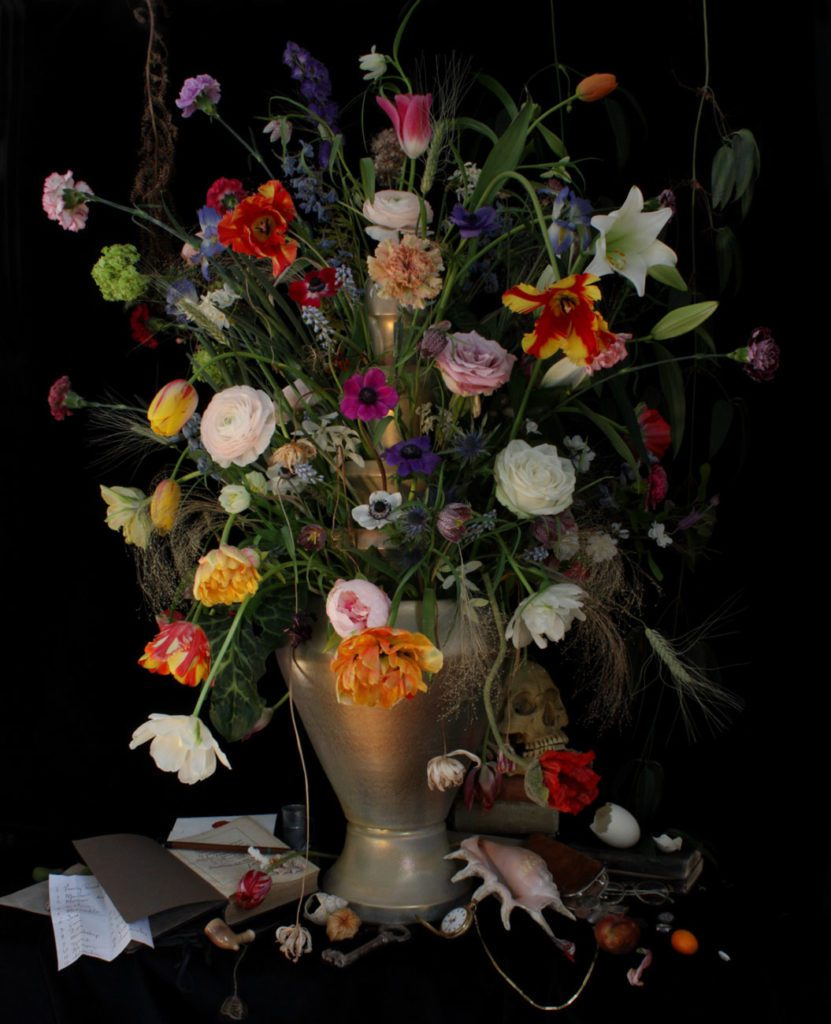 Michael James O'Brien, Flemish Still Life with Flowers and a Gold Vase, Antwerp