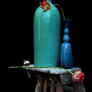 Michael James O'Brien, Still Life with a Turquoise Vase, Antwerp