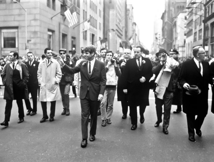 RFK Waves St. Patrick's Parade, 1968