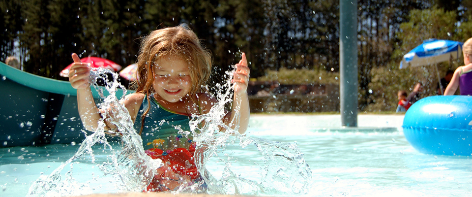 Image of girl playing in water at Adventure Land Plettenberg Bay