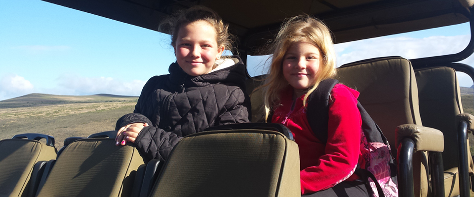 Image of girls on jeep at Indalu Game Reserve