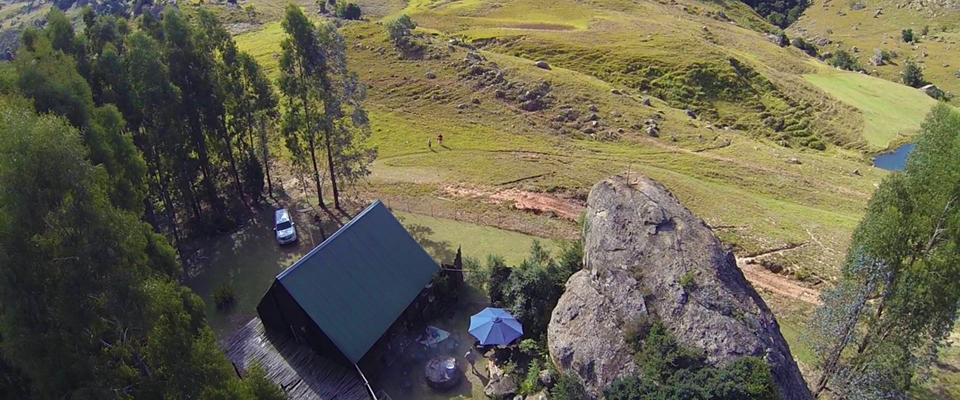 Aerial image of Ingwe Cabin